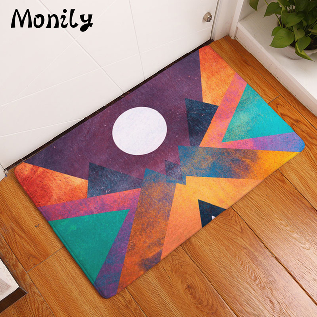 Monily Nordic Anti-Slip Door Mat Waterproof Abstract Painting Sun Carpets Bedroom Rugs Decorative Stair : nordic door mat - pezcame.com