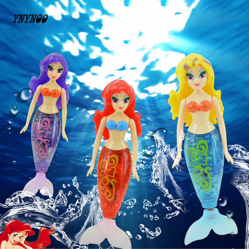 YNYNOO newest robot small mermaid fish tail swimming dolls colorful wig mermaid robofish child electronic pet toys available
