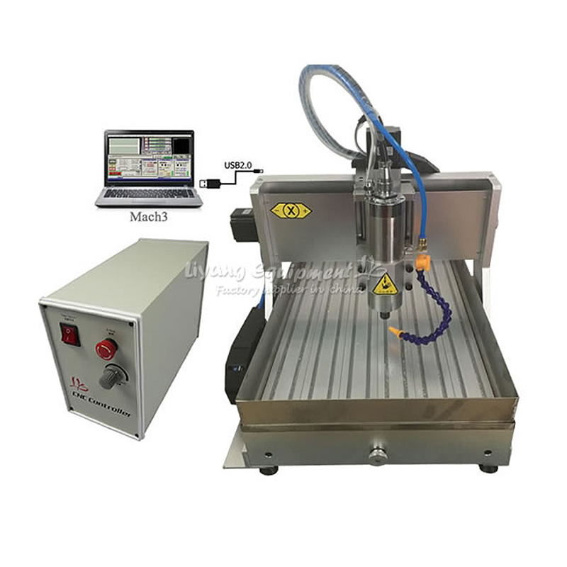 Waterjet CNC LY 6040 Z-VFD 800W USB 3axis Milling Machine Wood Router with Limit Switch step by step cork