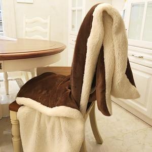 Image 1 - Manta de lana de invierno, manta de Cachemira Hurón, mantas cálidas de lana a cuadros, muy cálidas, suave, para sofá y cama