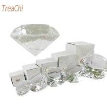 Кристально чистый пресс-папье граненое ограненное стекло гигантский Алмазный ювелирный Декор Ремесло