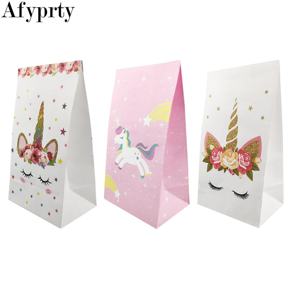 Unicorn Gift Bag Wedding Party Favors And Gift Unicorn Paper Bags Birthday Party Decorations Kids Candy Bag Baby Shower Supplies