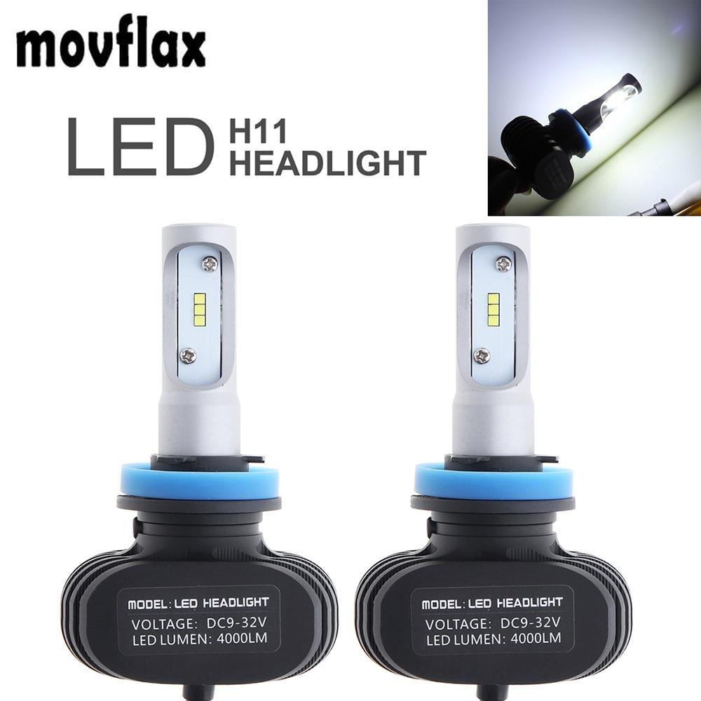 2pcs 50W S1 H11 Auto Car Headlight Headlamp Waterproof Automobile Fog Lamp CSP Car LED Head Light Lamp
