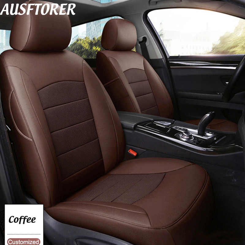 Us 302 22 31 Off Ausftorer Front Rear Genuine Leather Seat Covers For Bmw X1 Series 2010 2018 Automobiles Cowhide Seat Cover Cushion Accessories In