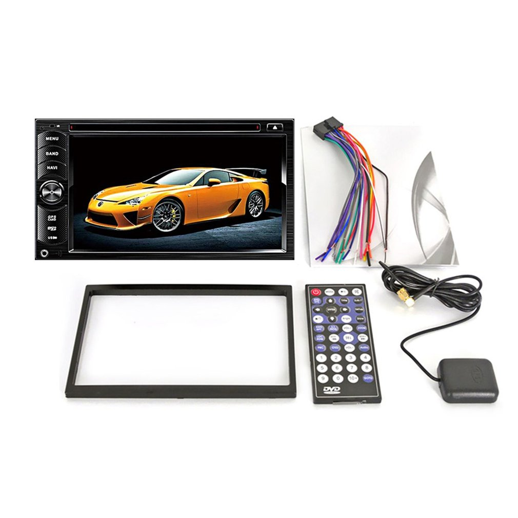 Newest Dual Decoding 6.2 inch Quad-core Car DVD Player with Colored HD Display Support Bluetooth Call Hot Selling