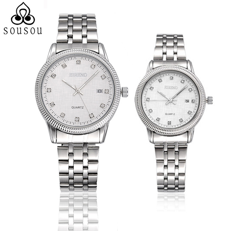 Fanala Watch Women Men Relogio Masculino Fashion Quartz Analogue Dial Metal Band Alloy Shell Couple Unisex Watches Reloj Mujer Lover's Watches