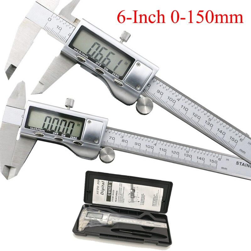 0 150mm 6 Metal casing Digital CALIPER VERNIER caliper metal digital caliper GAUGE Micrometer Measuring