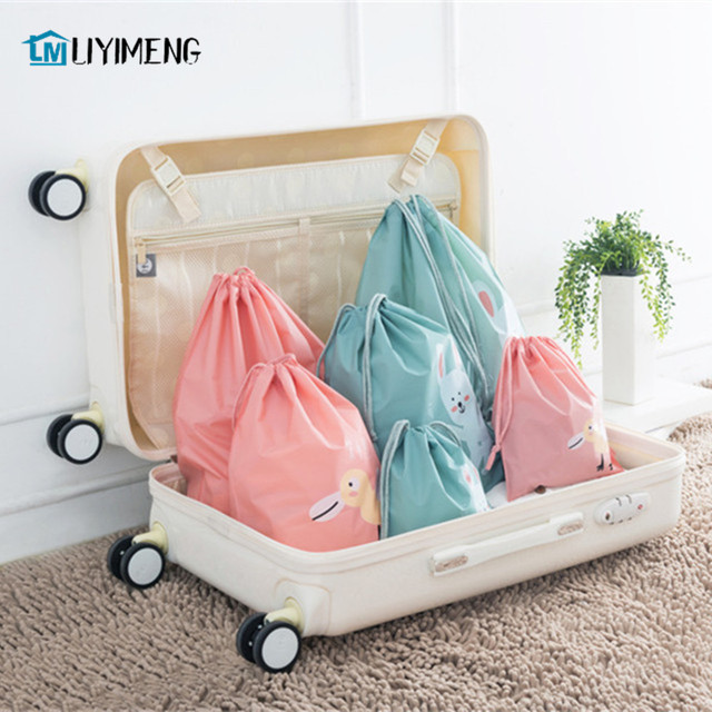 477106edbe211 LIYIMENG Travel Storage Drawstring Waterproof Dry Toy Bag Shoe Laundry  Lingerie Makeup Container Cosmetics Underwear Organizer-in Storage Boxes &  Bins ...