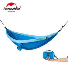 купить Naturehike 1-2 Person Outdoor Hammock Camping Hanging Sleeping Bed Swing Portable Double Chair Hammock в интернет-магазине