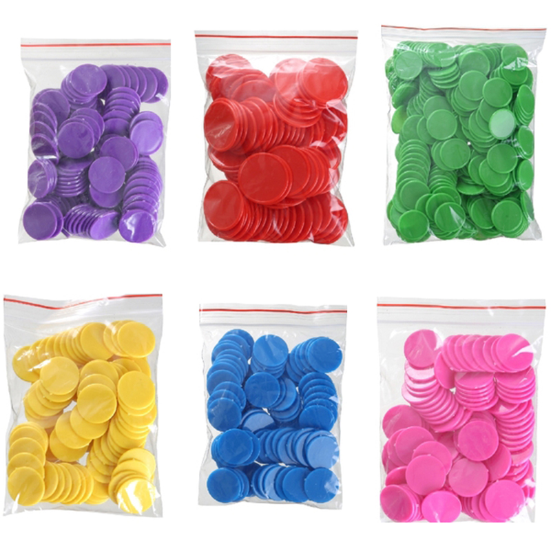 1000PCS Poker Chips Set Blank Poker Chips Cheap Plastic Tags/Lables/Chips 25*2.1mm 9 Colors