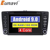 Eunavi 2 Din Car DVD GPS For Skoda Octavia 2012 2013 A 5 A5 Yeti Fabia Car Android 9.0 Quad Core RAM 2GB Stereo Radio Navigation