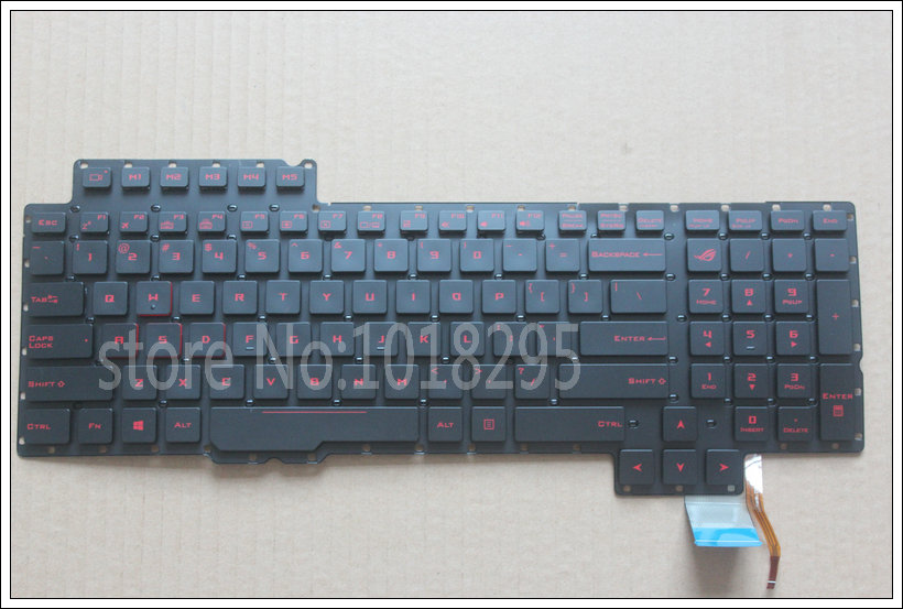 US New Laptop Keyboard for ASUS G752 0KN0-SI1US11 0KNB0-E610US00 V153062AS1 with backlit new laptop keyboard for asus 0kn80 1120fr00 black windows 8 french layout