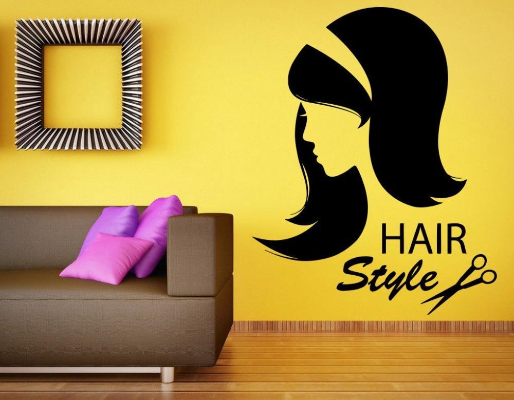 ツ)_/¯Wall Sticker Hair Beauty Salon Vinyl Decal Girl Teen ...