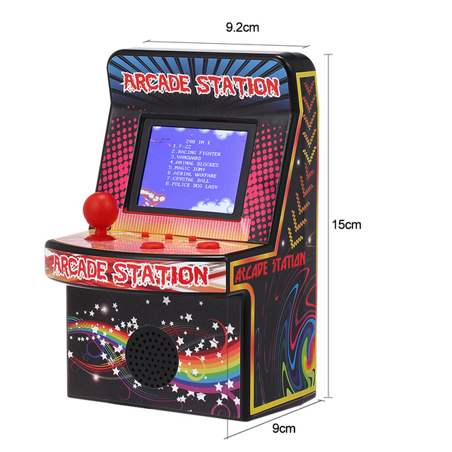 Mini Arcade Portable Game Console Players BL-883 Classic Handheld 8-Bit Game Machine Games Built-in 240 Classic Games for Kids