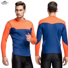 Sbart 741 2MM split diving suits, wear long sleeved T-shirt jacket cold snorkeling diving, surfing swimming jellyfish clothing