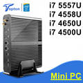 Gen Broadwell Mini-pc i7 i7 5557U 4558U Gráficos Iris 6100 5100 Windows 10 Fanless HTPC GABINETE do Computador Caixa De TV 4 K 2 HDMI 300 M wi-fi