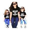 Verano Ropa Más Reciente de La Familia de Madre E Hija Ropa A Juego de Algodón Corto Mommy And Me Ropa Para Madre E Hija