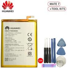 Hua Wei Original Replacement Phone Battery HB417094EBC For Huawei Ascend Mate 7 MT7 TL00 TL10 UL00 CL00 4000/4100mAh Free Tools аккумулятор для телефона ibatt hb417094ebc для huawei ascend mate 7 ascend mate 7 mt7 l09 mt7 cl00 ascend mate 7 mt7 tl10 ascend mate 7 mt7 cl00 ascend mate 7 mt7 ul00 ascend mate 7 dual mt7 tl00 ascend mate 7 dual sim