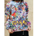 Free shipping! Autumn New fashion Women Men Pokemon Print Pullover 3D/Galaxy sweatshirts hoodies sweater Tops