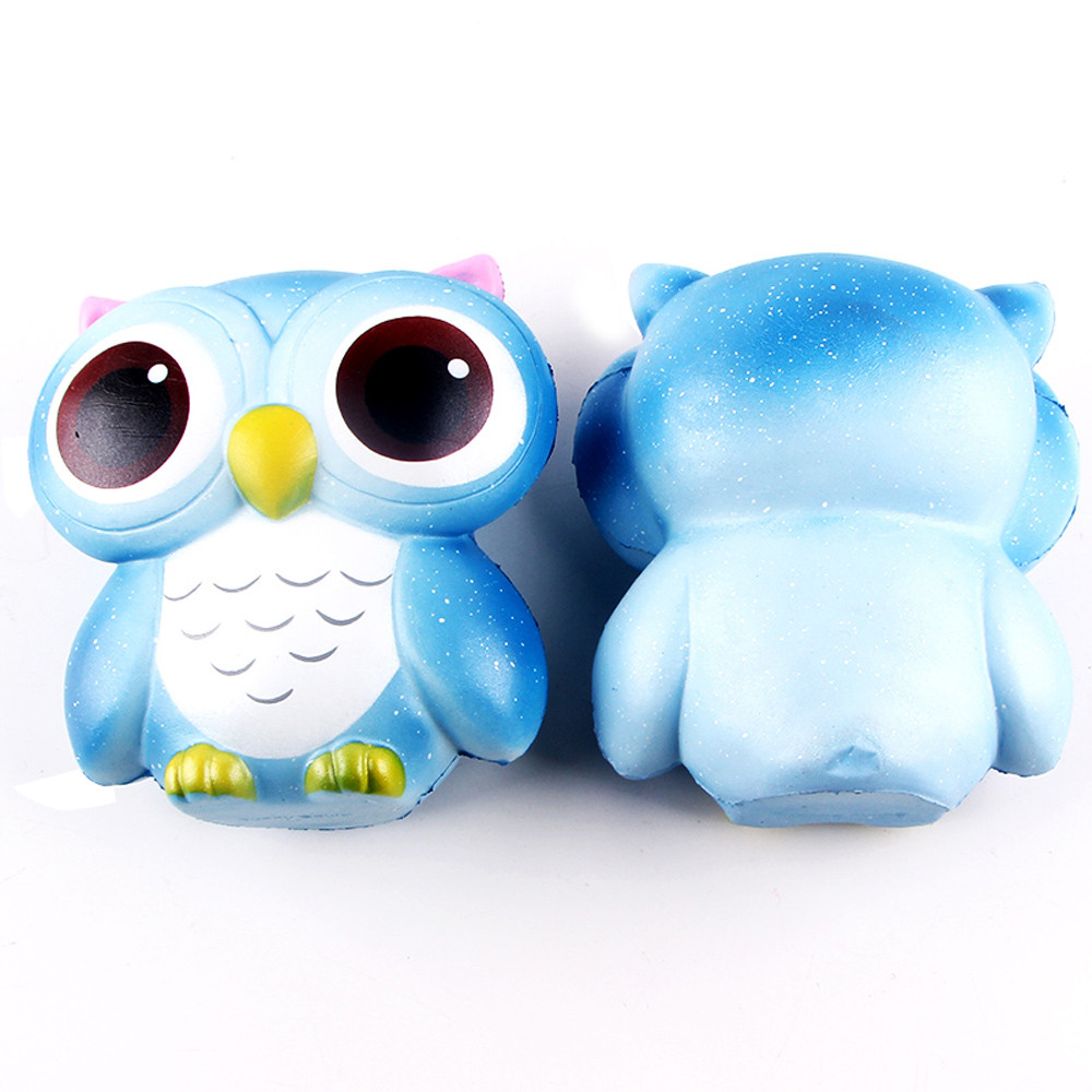 15cm Lovely Galaxy Owl Cream Scented Squishy Slow Rising Squeeze Toys Collection Stress Reliever Desk Decoration