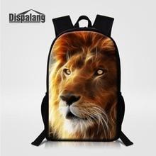 eabc488717 Dispalang Lion Tiger Backpack Leopard Giraffe Children School Bags Horse Wolf  Animal Boys Bookbag Men Travel