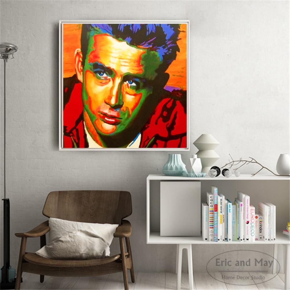 James Dean Actor Movie Painting Canvas Print Art Home Decor Wall Art