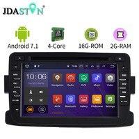 2 DIN Android 7 1 1 Car DVD GPS Radio For Dacia Sandero Duster Renault Captur
