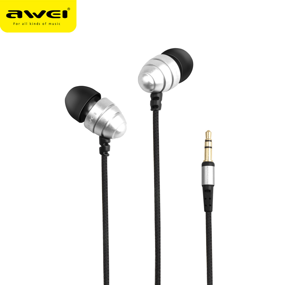 Awei Wired Stereo In Ear Headphone And In-Ear Earphone For Phone iPhone Samsung Head Headset Earpiece Kulakl K Auriculares Mini