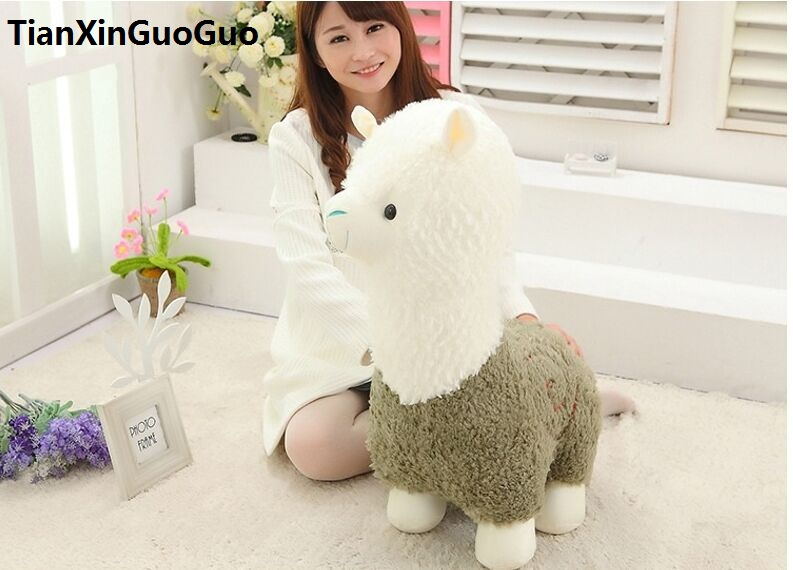 large 65cm cartoon green alpaca sheep plush toy, soft throw pillow birthday gift h2969 lovely giant panda about 70cm plush toy t shirt dress panda doll soft throw pillow christmas birthday gift x023