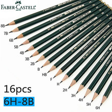 Faber Castell 16Pcs Drawing Pencil 8B 7B 6B 5B 4B 3B 2B B HB F H 2H 3H 4H 5H 6H Standard Pencils for School Sketch Pencil Set(China)