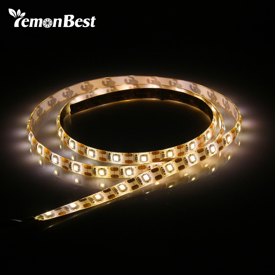 Us 1 99 16 Off 5v Usb Cable Led Strip Light Lamp Smd3528 50cm 1m 2m Christmas Flexible Stripe Lights Tv Background Lighting In Strips From