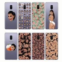 Phone Cover Funny Face Kimoji Kim Kardashian Kanye Soft Silicone Cases for Samsung A3 2014  A6 A8 A9 2018 A7 2017