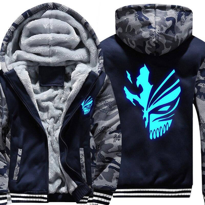 EUA TAMANHO Hoodies Camisolas dos homens LIXÍVIA Impresso Design Luminoso  de Incandescência Camuflagem Jaquetas Casacos de 29d1b4499e1f4