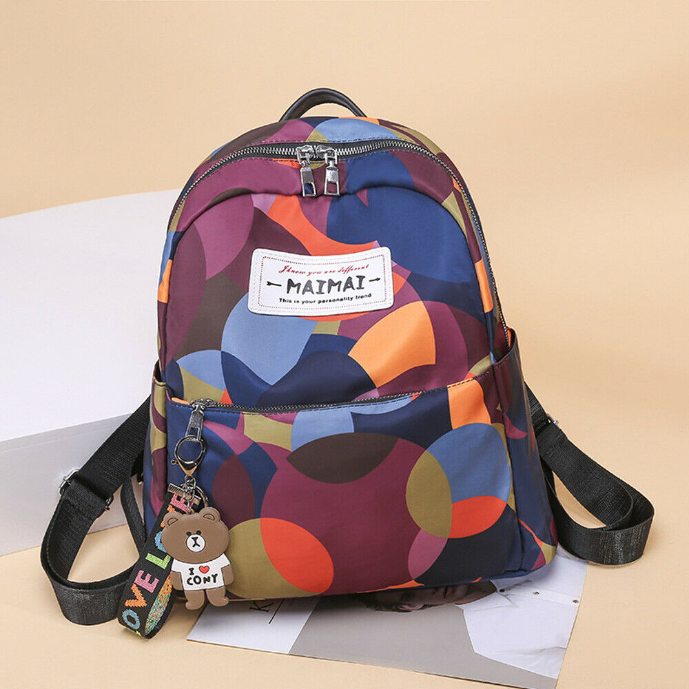 Female anti-theft backpack fashion printing Oxford cloth waterproof shoulder bag cantaFemale anti-theft backpack fashion printing Oxford cloth waterproof shoulder bag canta