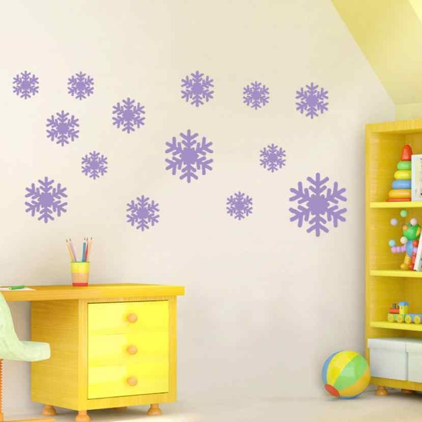 Новая Настенная Наклейка Замороженные снежные хлопья виниловая художественная