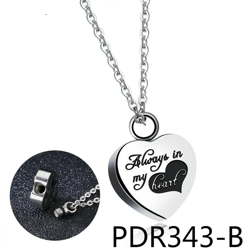European Personality Anniversary Love Pendant Stainless Steel Exquisite Necklace Woman Can Unscrew Dress Note Ashes Of PDR343