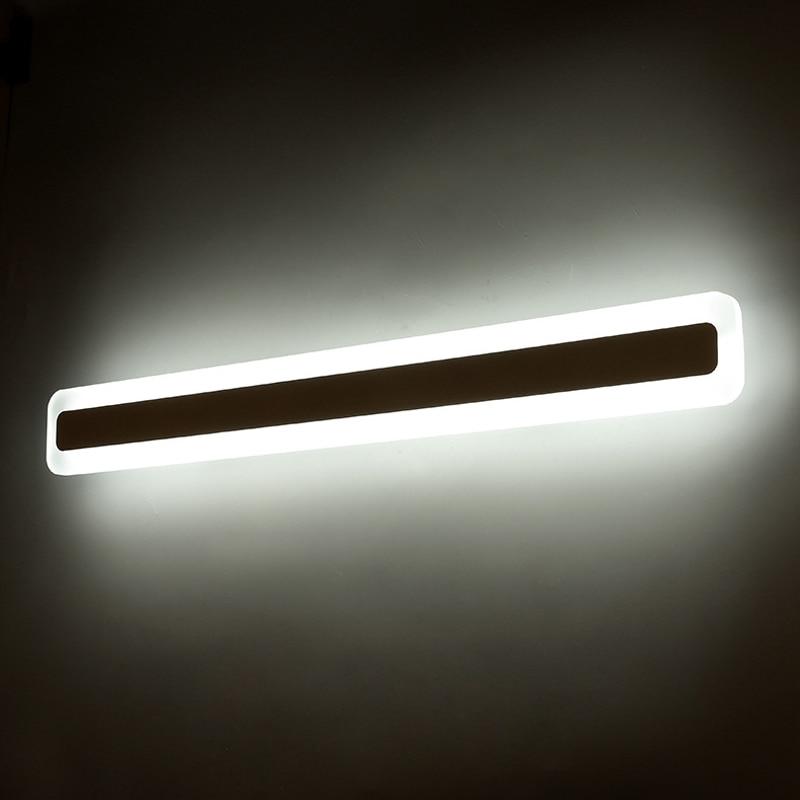Mais longo led luzes do espelho moderno maquiagem quarto de vestir banheiro led espelho luminária de iluminação para casa lâmpada de parede espelho