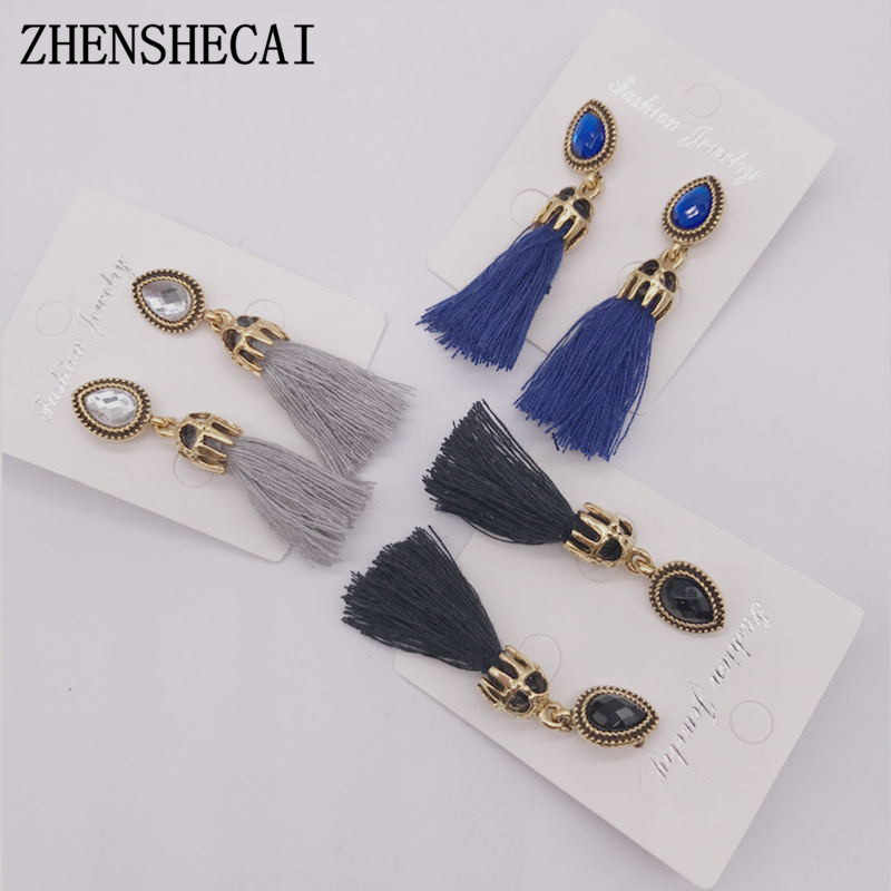 Fashion earring for women long tassel fashion style vintage Bohemia drop earring  jewelry boucle d'oreille femme 2018