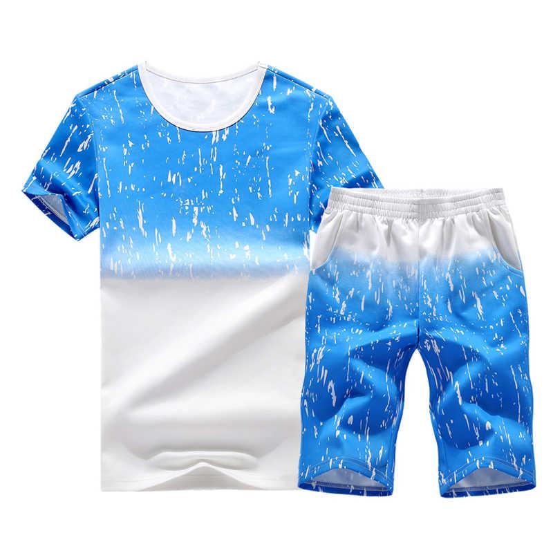 Летний мужской комплект, спортивные костюмы, футболка с короткими рукавами + шорты, комплект из 2 предметов, повседневный мужской спортивный костюм, одежда, Ropa Para Hombre