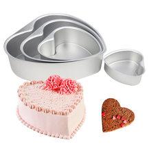 Belo 3/6/8 Polegada Liga de Alumínio Molde Do Bolo da Forma Do Coração DIY Mousse Pastry Mould Baking Pan Bolo ferramentas FBE2