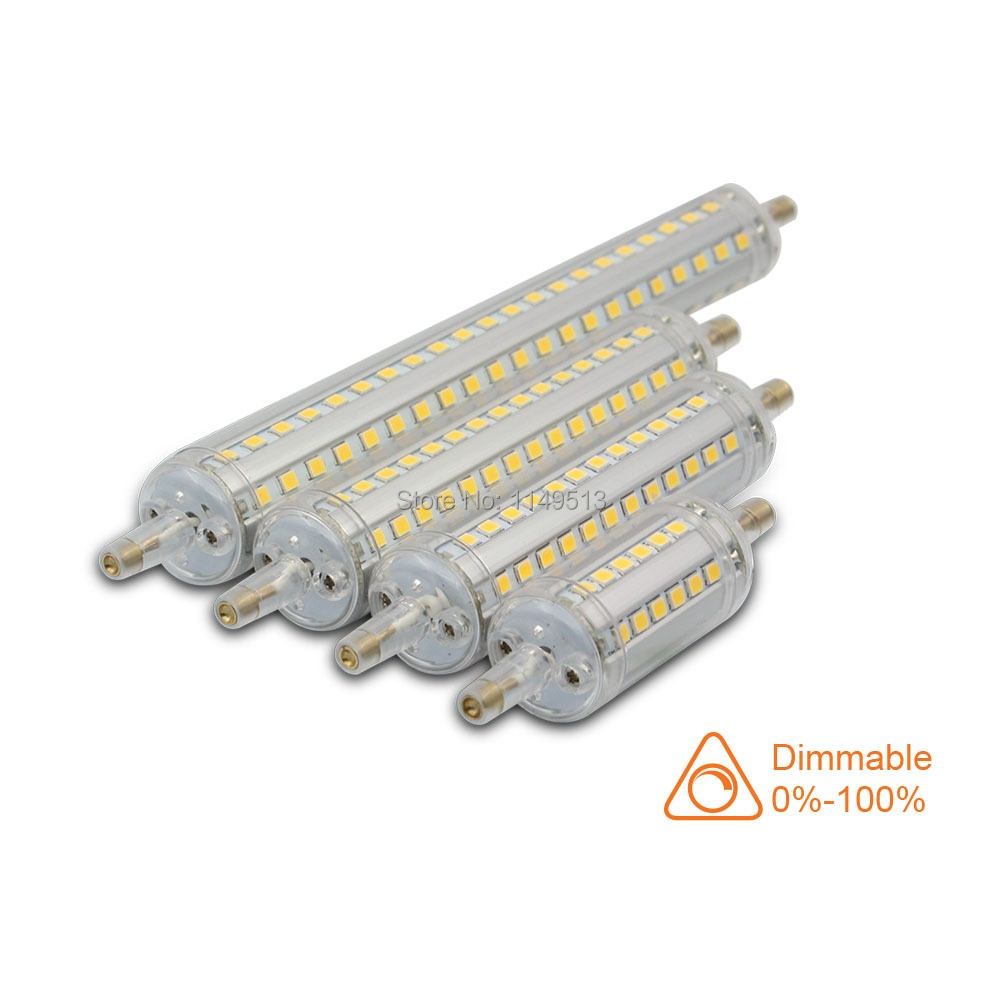 Dimmable <font><b>R7S</b></font> <font><b>led</b></font> light 118mm 10w 78mm 5w <font><b>LED</b></font> <font><b>R7S</b></font> light J78 J118 <font><b>R7S</b></font> <font><b>led</b></font> <font><b>135mm</b></font> 15w 189mm 18w replace halogen lamp AC85-265V image