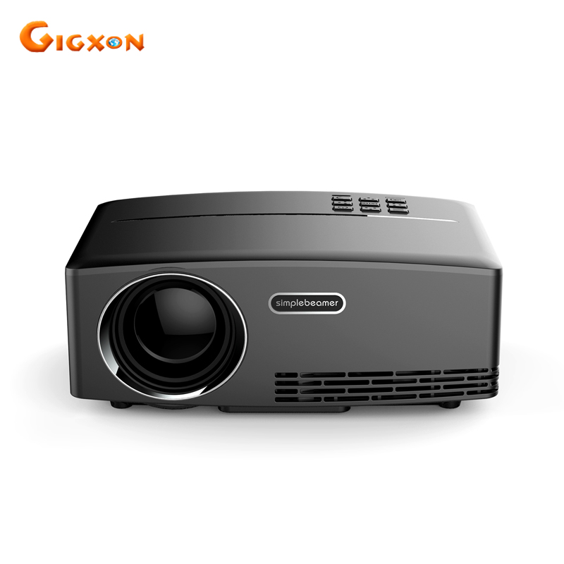 Gigxon - G88 new! 1800 lumens mini LED projector 800*480 support full HD 1080P portable theater projector for business gigxon g700a android portable mini projector support full hd level 1920x1080pixels 1200 lumens led projector