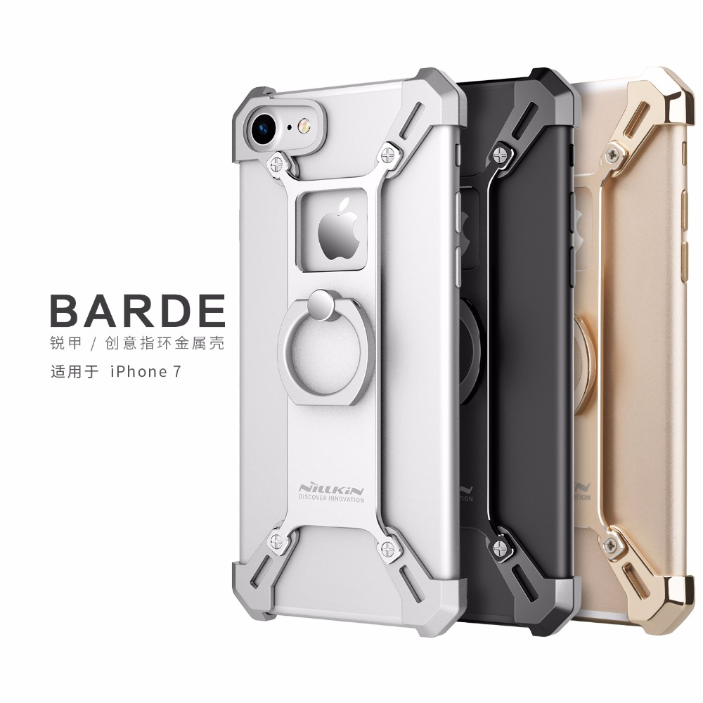 bilder für Für iPhone 7 7 Plus capa Handy-telefon Standplatz-abdeckung Nillkin Aluminium metall Back Cover Ring Form Halter Fall für iPhone 7 7 Plus