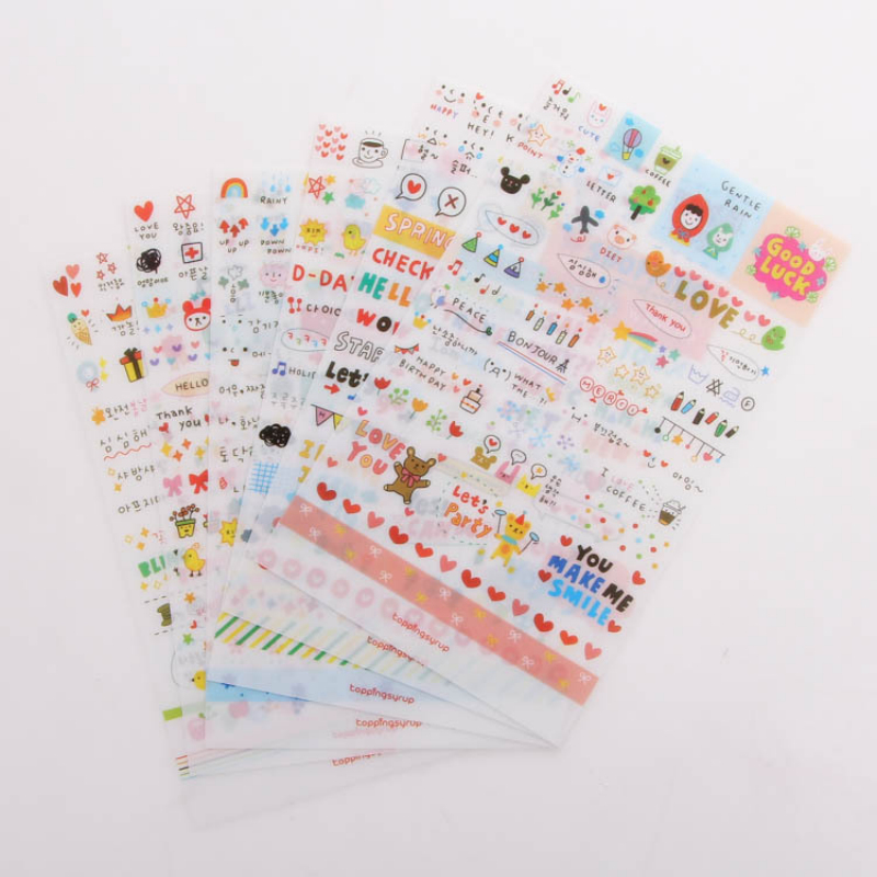 (6 pieces/lot) DIY Cute Simple Life Stickers for Diary