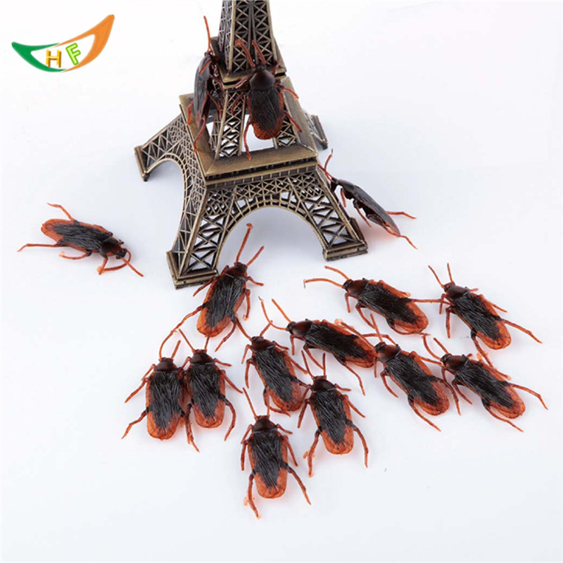 wholesale Prank supplies toy spoofing 500pcs cockroaches scary girl shocker April fools toys false cockroaches novelty toys
