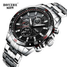 BOYZHE New Top Brand Mechanical Mens Watches Automatic Business Watch Men Sports Waterproof Male Clock Army relogios masculinos - DISCOUNT ITEM  50% OFF All Category