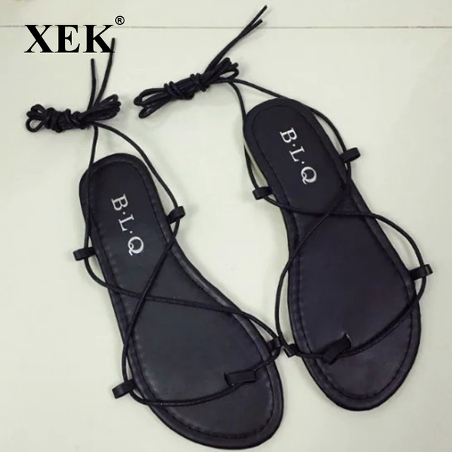 XEK Women Sexy Cutout Shank High Sandalias Flip Flops Summer Style Casual  Shoes For Female GSS82 f83ac6c8e000
