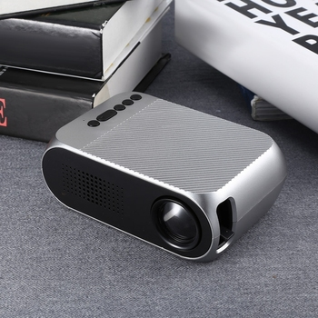 Exquizon YG320 PK YG300 LED Portable Projector 3.5mm 320x240 HDMI USB Mini YG320 updated YG300 Projector Home Media Player