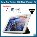 "Para teclast x98 plus ii case, x98 plus 2 pu de proteção de couro case capa para teclast x98 plus ii 9.7 ""tablet pc + free 3 presentes"