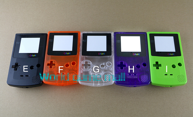5 colors Full Housing Shell Case Cover Replacement For Nintendo GBC Gameboy Color Console